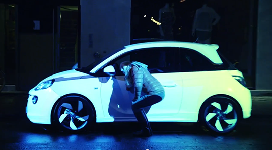 opel adam projection mapping