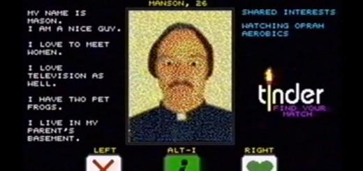 Tinder 80s app Manson