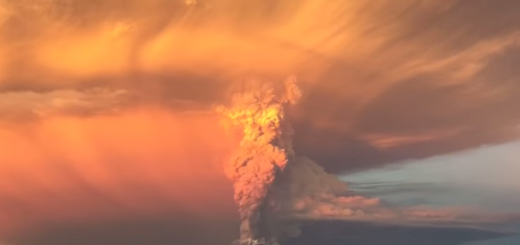 Calbuco eruption video