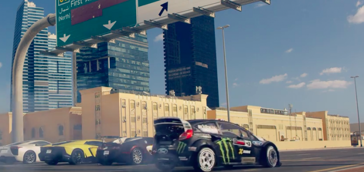 KEN BLOCKS GYMKHANA EIGHT ULTIMATE EXOTIC PLAYGROUND DUBAI Ken BLock