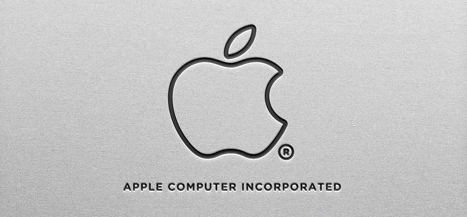 apple mimimalistic logo