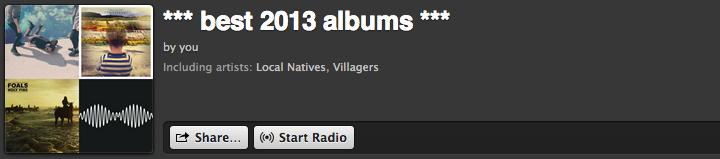 best 2013 albums