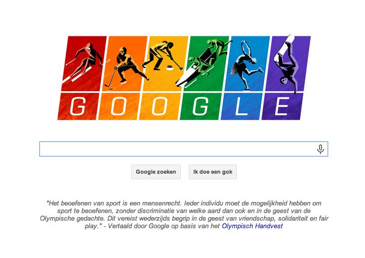 Google Doodle Sotsji