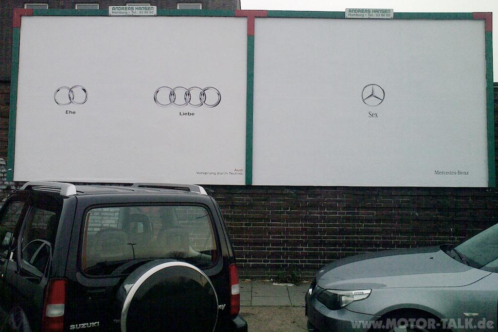 audi vs mercedes grappig
