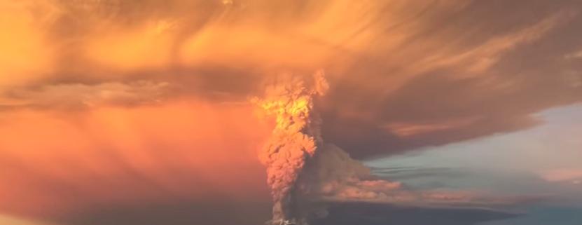Calbuco eruption video