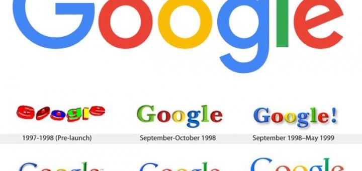google logo door de jaren